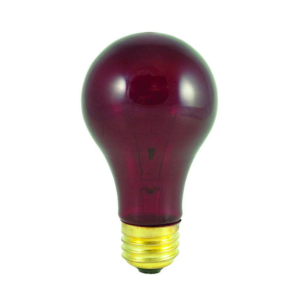 Bulbrite 105725 25 Watt A19 Incandescent Red Party Bulb