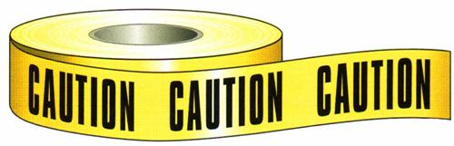 Morris Products 69000 Caution Tape 3 inch X 1000 ft