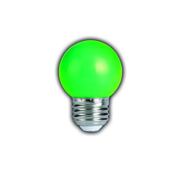 Bulbrite 770152 1 Watt G14 LED Globe Green