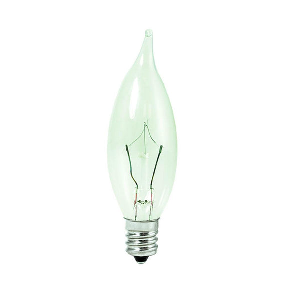 Bulbrite 460310 10 Watt Ca8 Halogen White Krypton Flame