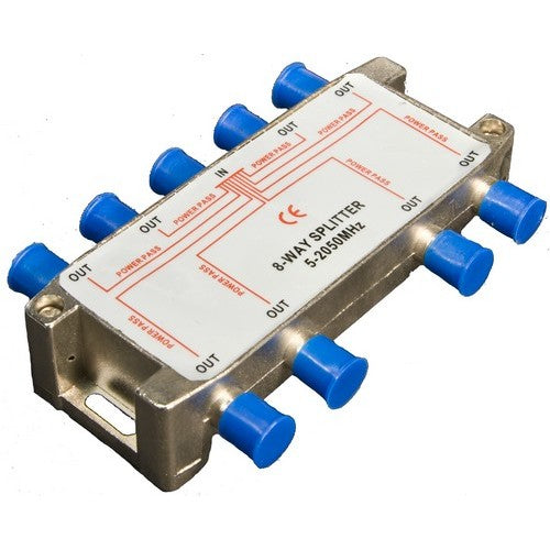 Morris Products 45059 8 Way Satel Splitter 5-2050Mhz