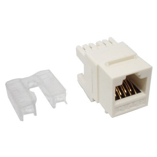 Morris Products 88031 CAT6 JACK Rear Entry (180D) Wh