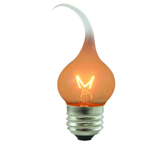 Bulbrite 411007 7.5 Watt S11 Incandescent White Silicone Flame