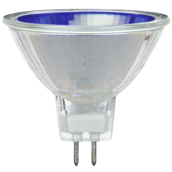 Halogen - Colored MR16 Mini Reflector - 50 Watt -Blue - Blue