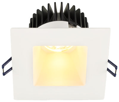 Lotus LED Lights - 4 Inch Square Deep Regressed LED Downlight - Dim to Warm - White Reflector - White Trim