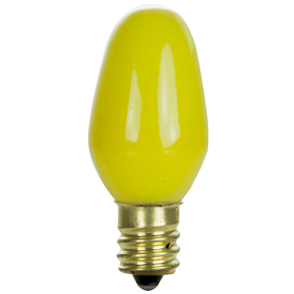 Incandescent - C7 Night Light - 7 Watt -Yellow - Yellow