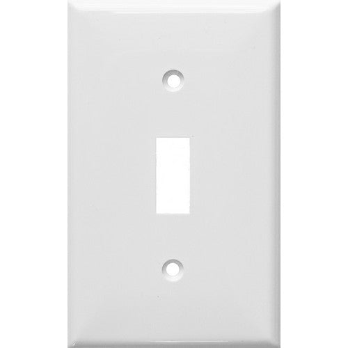 Morris Products 81011 Lexan Wall Plates 1 Gang Toggle Switch White - A durable 1 Gang Wall Plate for Toggle Switch.
