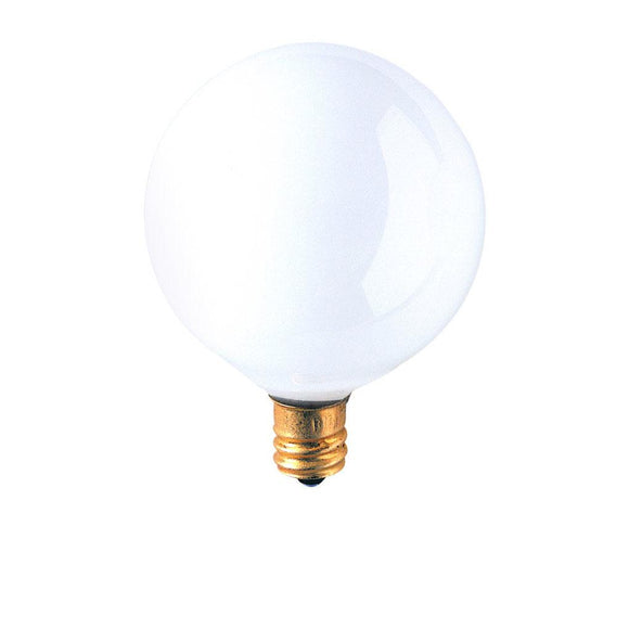 Bulbrite 391015 15 Watt G16 Incandescent White Globe