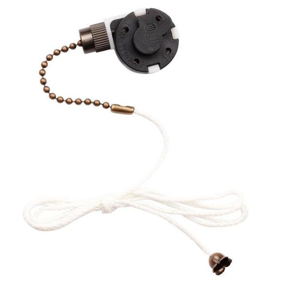 Pull Chain 3-Speed 4-Wire Control Switch for Westinghouse Ceiling Fan