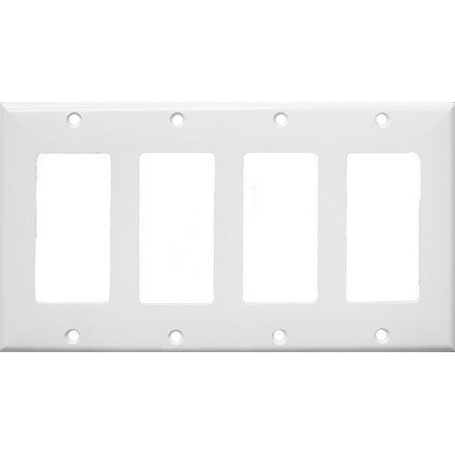Morris Products 81141 Lexan Wall Plates 4 Gang Decorative/GFCI White - This Decorative/GFCI 4 Gang Wall Plate is a great value