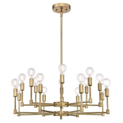 Westinghouse 6576100 Sixteen Light Chandelier, Brushed Brass Finish