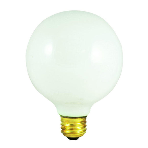 Bulbrite 350025 25 Watt G40 Incandescent White Globe