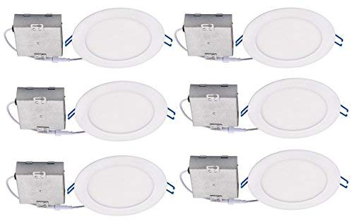 Topaz RDL-64RND-12-WH-D-50 LED Fixture 6 Inch Slim Recessed Downlight 12 Watt, 4000 Kelvin, Cool white, Dimmable