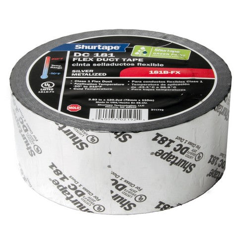 Morris Products T640-FD3S Tape, Flex Duct, Silver, 3 inch