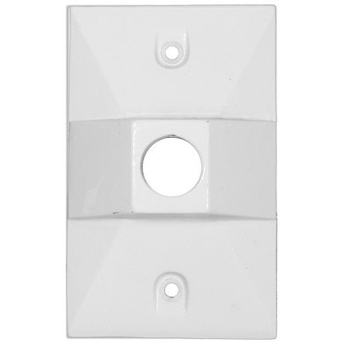 Morris Products 37312 Lamphdr Cover 1-1/2 Hole White