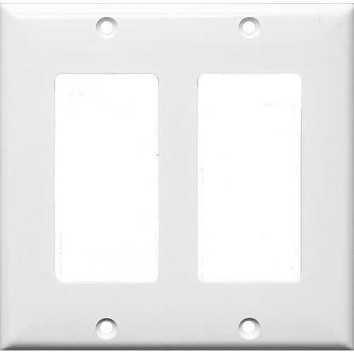 Morris Products 81121 Lexan Wall Plates 2 Gang Decorative/GFCI White - This Decorative/GFCI 2 Gang Wall Plate is sturdy and attractive.