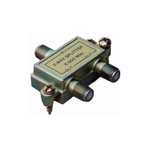 Morris Products 45030 2 Way Splitters with Ground Block 5-900 Mhz - Heavy duty 2 Way Splitters with screw mount.