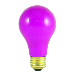 Bulbrite 106660 60 Watt A19 Incandescent Ceramic Pink Party Bulb