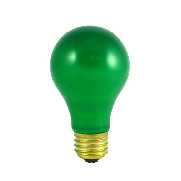 Bulbrite 106440 40 Watt A19 Incandescent Ceramic Green Party Bulb