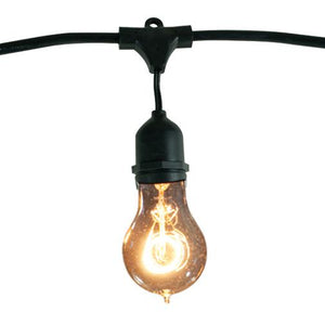 Bulbrite 810004 String Light - Black - Bulbs Included:  25 Watt A19 Nostalgic Loop Incandescent (15 pcs) E26-Medium Base 120 Volt