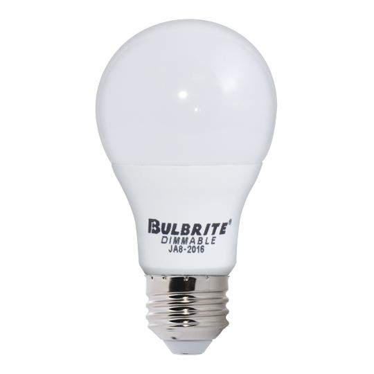 Bulbrite 774110 9 Watt A19 LED White Dimmable