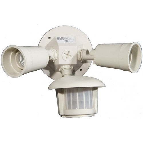 Morris Products 73211 Motion Activated Twin Par Light, White