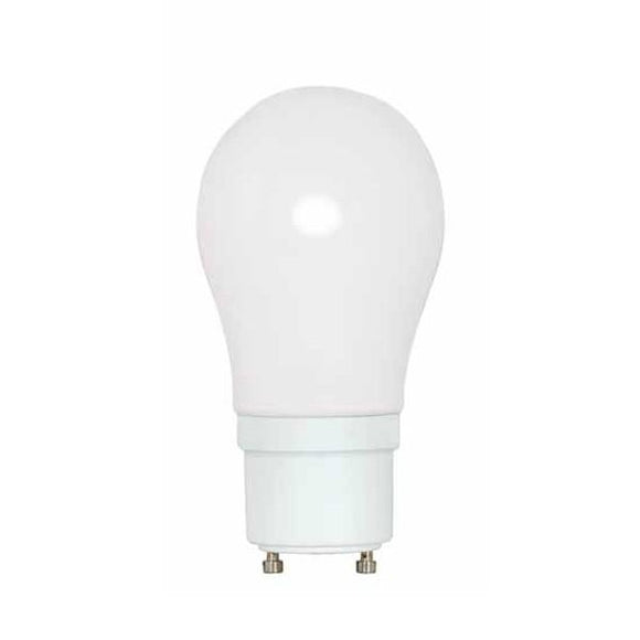Satco S8225 15 Watt CFL A19, 2700 Kelvin, Warm White, 800 Lumens, GU24 Base, 120 Volt, 10000 Average Rated Hours