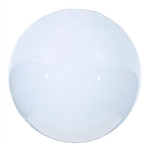 Satco 50/156 Fixtures Accessories Blown Glossy Opal Neckless Ball Shade, 12 inch Diameter, 5-1/4 inch Diameter