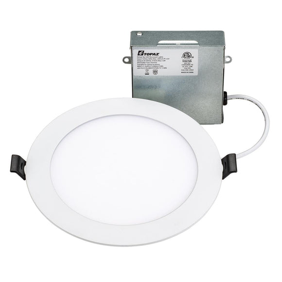 Topaz RDL/6RND/12/5CTS - 6 Inch - CCT Selectable - LED Slim Fit Recessed Round Downlight-  12 Watt