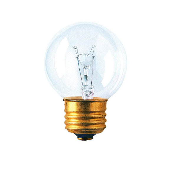 Bulbrite 311225 25 Watt G16 Incandescent White Globe