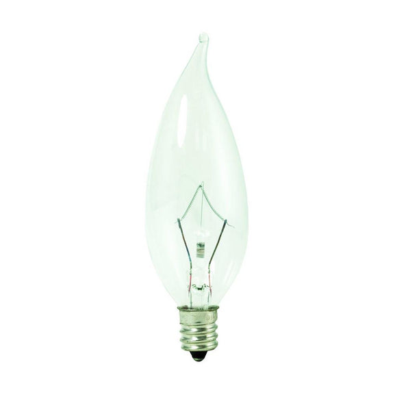 Bulbrite 460360 60 Watt Ca10 Halogen White Krypton Flame