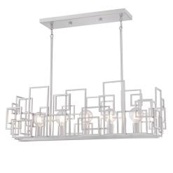 Westinghouse 6577400 Five Light Chandelier, Nickel Luster Finish