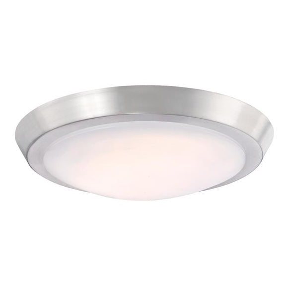 Westinghouse 6107300 LED Fixture 11 Inch Indoor Flush Mount Ceiling Fixture, Brushed Nickel Finish with Frosted Acrylic Shade