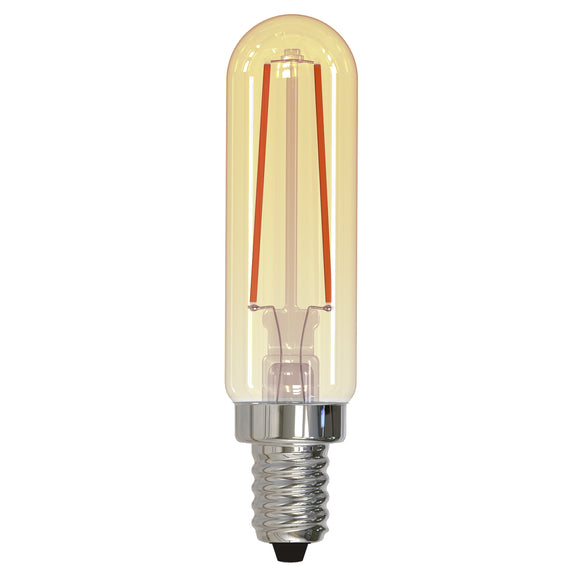 BULBRITE 776904 2.5 Watt T6 Filament Nostalgic - E12 Candelabra Base - 2100 Kelvin Warm White - 160 Lumens - Antique - 120 Volt