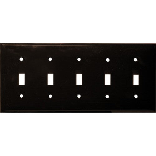 Morris Products 81052 Lexan Wall Plates 5 Gang Toggle Switch Brown - This Wall Plate is for a 5 Gang Toggle Switch.