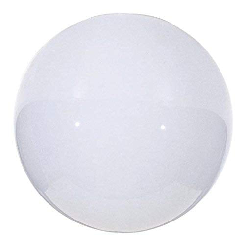 Satco 50/154 Fixtures Accessories Blown Glossy Opal Neckless Ball Shade, 10 inch Diameter, 3-7/8 inch Opening