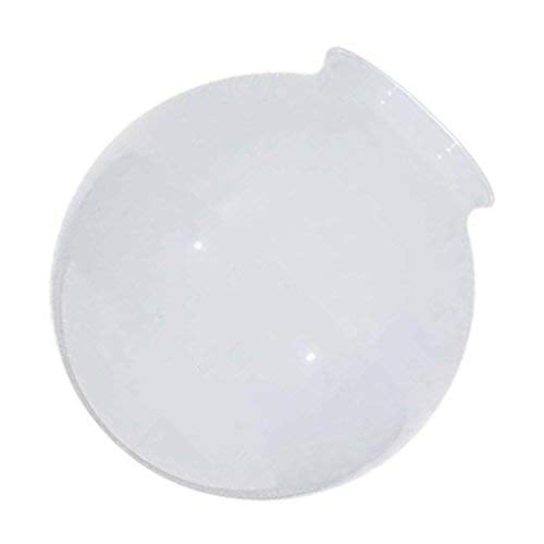 Satco 50/186 Fixtures Accessories White Ball Glass Globe Shade, 5 inch Diameter, 3-1/4 inch Fitter