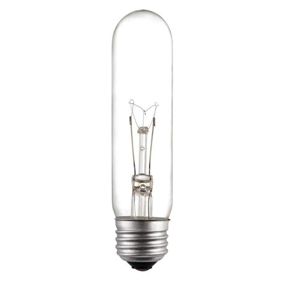 Westinghouse 0371000 25 Watt Incandescent T10 Specialty Clear - 2700 Kelvin - Warm White - 180 Lumens - E26-Medium Base - 120 Volt - Card