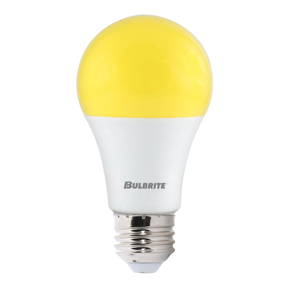 Bulbrite 774000 9.5 Watt A19 LED Yellow Bug