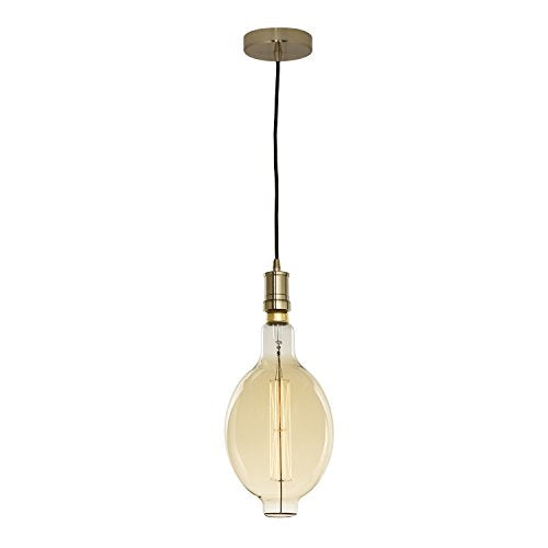 Bulbrite 810108 60 Watt BT SHAPED GRAND NOSTALGIC THREAD E26 120 Volt W/ CONTEMPORARY WARM GOLD PENDANT