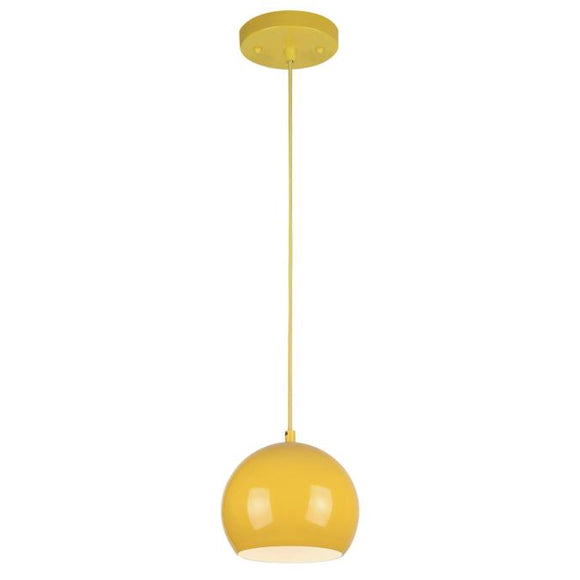 Westinghouse 6101900 1 Light Mini Pendant Yellow Finish with Metal Shade