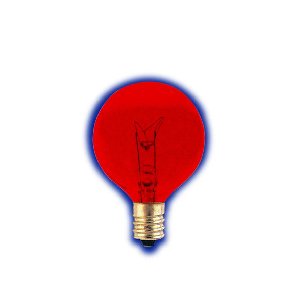 Bulbrite 306010 10 Watt G12 Incandescent Red Globe Transparent