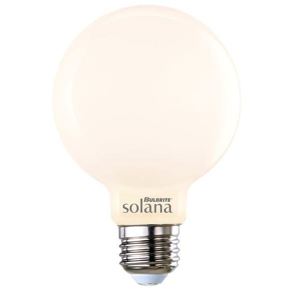 BULBRITE 293121 5.5 Watt G25 Smart LED - E26 Medium Base - 2200 Kelvin-6500 Kelvin Multi-Color - 500 Lumens - Milky - 120 Volt