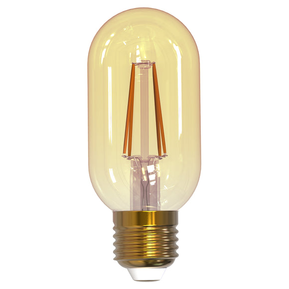BULBRITE 776805 4 Watt T14 Filament Nostalgic - E26 Medium Base - 2200 Kelvin Warm White - 315 Lumens - Antique - 120 Volt