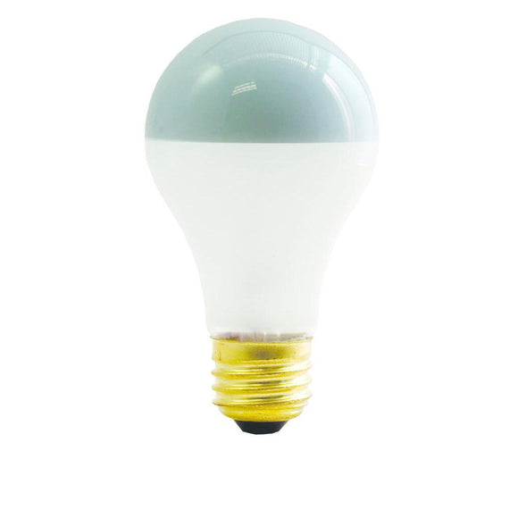 Bulbrite 717060 60 Watt A19 Incandescent White Frost Silver Bowl