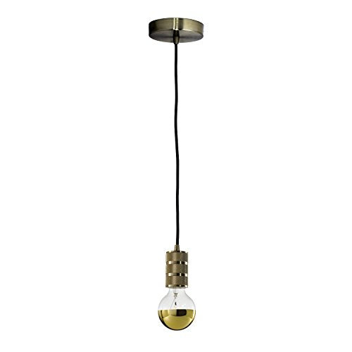 Bulbrite 810104 INDUSTRIAL WARM GOLD PENDANT W/ 40 Watt G25 HALF GOLD E26 120 Volt