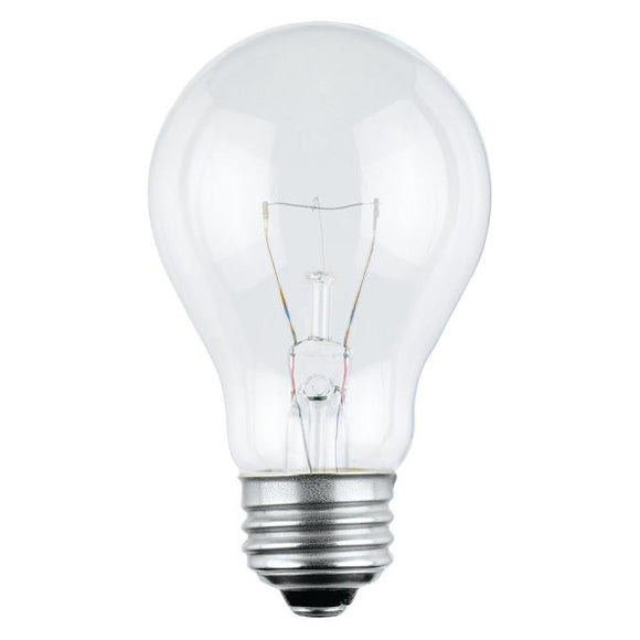 Westinghouse 0396300 25 Watt Incandescent A19 Clear - 2700 Kelvin - Warm White - 230 Lumens - E26-Medium Base - 120 Volt - Box - 4-Pack