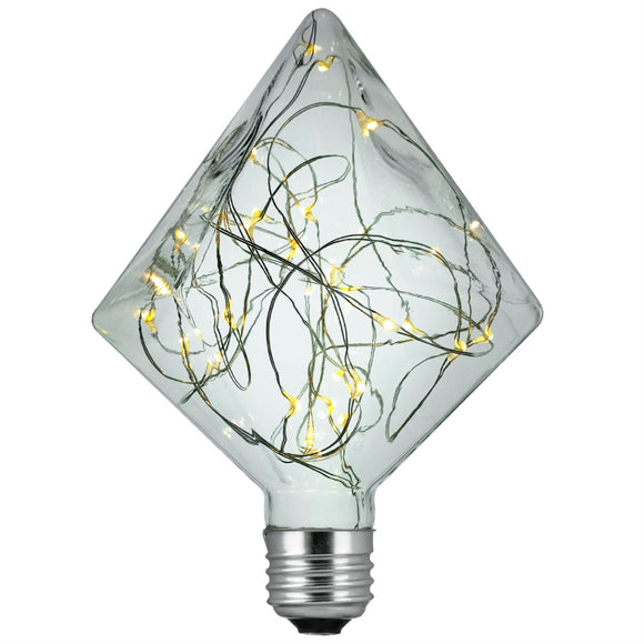 Sunlite  81196-SU - DIAMOND/LED/DX/1.5/27K LED Diamond Shaped Decorative Light Bulb, Warm White