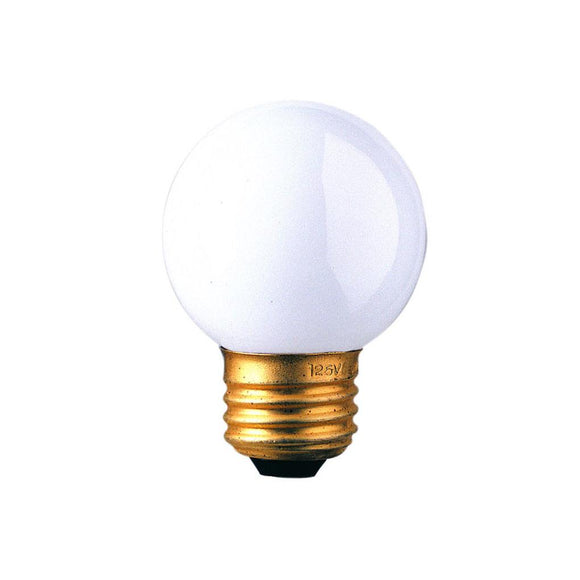 Bulbrite 310225 25 Watt G16 Incandescent White Globe