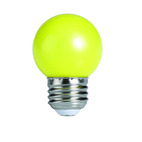 Bulbrite 770154 1 Watt G14 LED Globe Yellow